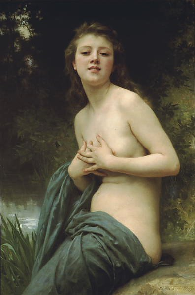 Постер Бугеро Вильям (Adolphe-William Bouguereau) Весенний ветер