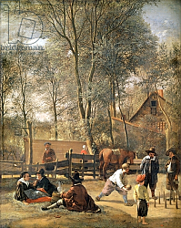 Постер Стен Ян Skittle Players outside an Inn, c.1660-63