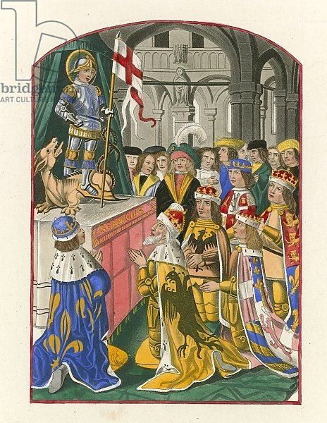 The Sovereigns of Europe Worshipping St George, late 15th century