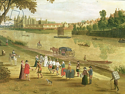 Постер Школа: Фламандская 17 в. The Thames at Richmond, with the Old Royal Palace, c.1620 2