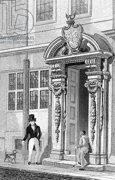 Painter Stainer's Hall, Little Trinity Lane, engraved by J. Tingle