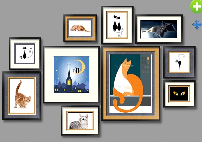 композиция кошки артпостергалерея