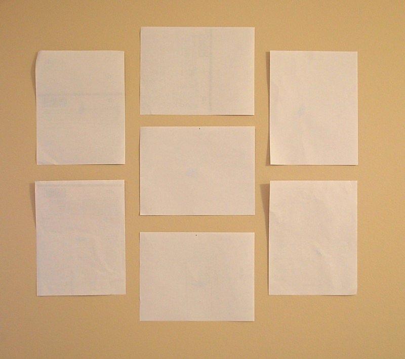 как размещать картины на стене